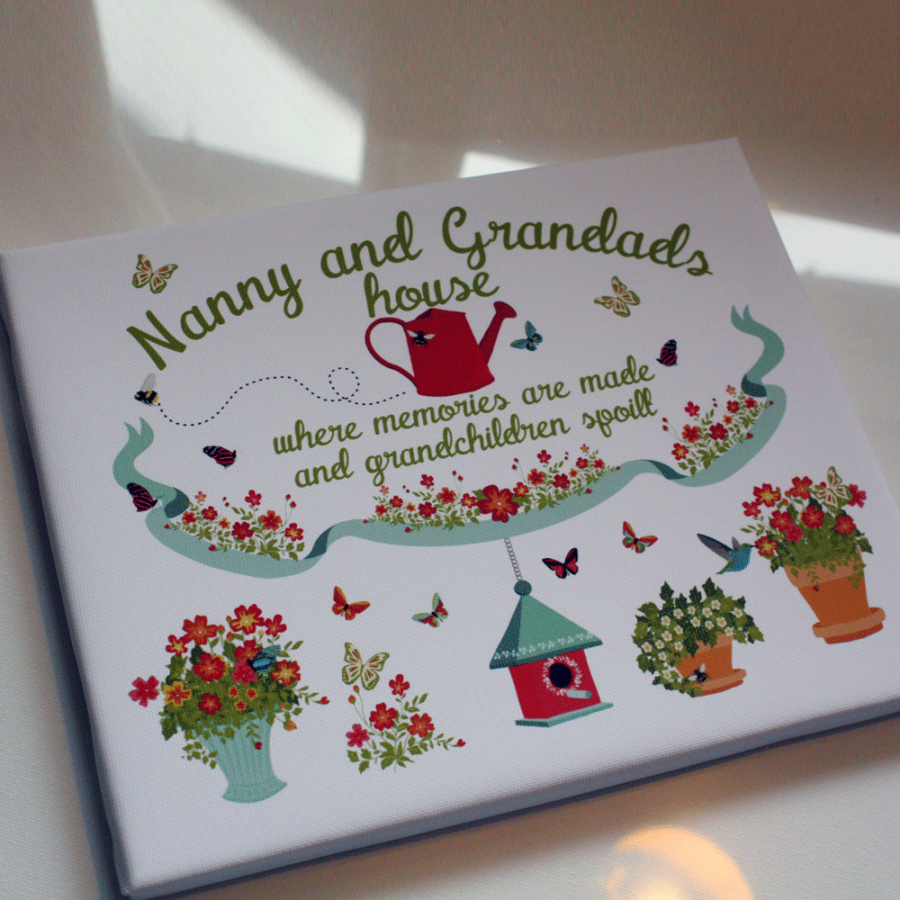 Personalised Nanny And Grandad's House