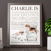 Load image into Gallery viewer, Personalised Dog Breed Gift