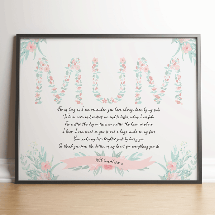 Personalised Mum Floral Gift