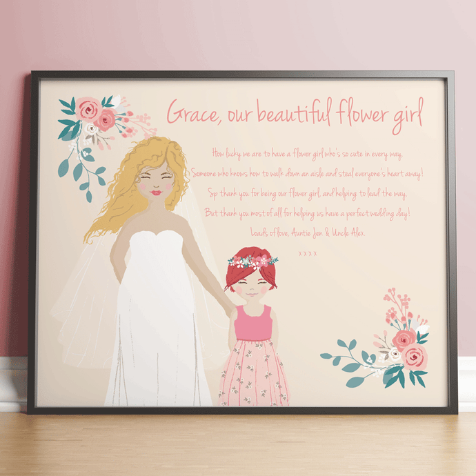 Personalised Gifts For A Flower Girl