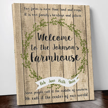 Load image into Gallery viewer, Personalised Welcome To Our Farm House Rustic Home Decor