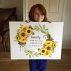 Sunflower Wall Decor Family Home Quotes