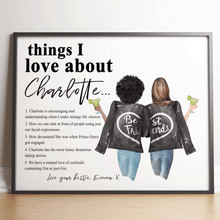 Load image into Gallery viewer, Personalised Things I Love About My Best Friend Print