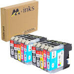 AA+ 10 Pack Replacement for LC61 (LC980) Compatible Ink Cartridge for Brother - CTC Printer