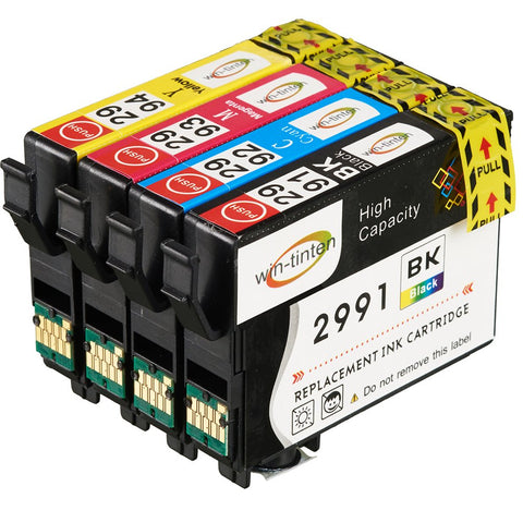 Win-Tinten Compatible Ink Cartridges Epson 29 XL 4 Pack for Epson Expression Home XP Printer - CTC Printer
