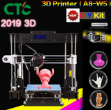 2019 Upgraded Full Power failure A8 3D diy printer high-precision desktop Prusa i3 DIY Kit LCD screen printer support Assembly - CTC Printer