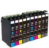 10 Compatible for 29XL Ink Cartridges T2991 -T2994 with Expression Home XP-235 XP-245 XP-335 XP-342 XP-432 XP-442 XP-247 XP-435 - CTC Printer