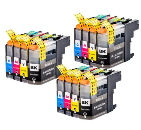 12PK Printer Cartridges Compatible For LC223 (LC221) MFC-J4420DW J4620DW J4625DW J5320DW J5620DW Market - CTC Printer