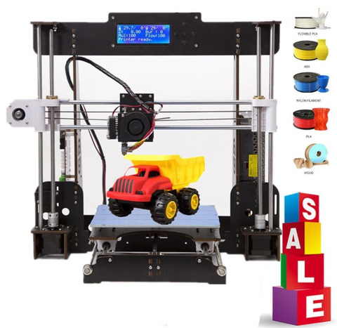 3D Printer A8 Aviation Board /Acrylic Prusa i3 Reprap MK8 Extruder Heatbed 220*220*240MM 3d printer kit - CTC Printer