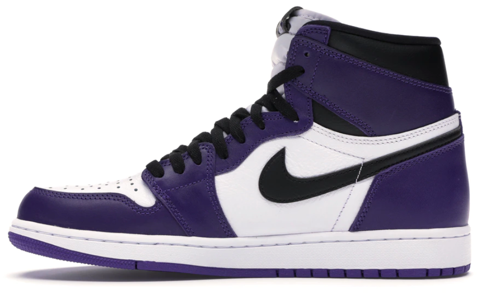 Jordan 1 Retro High Court Purple White GS