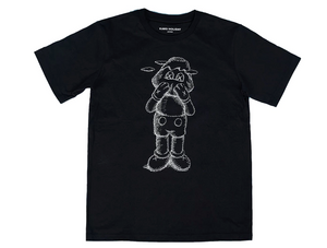 KAWS HOLIDAY JAPAN Tee Sketch Black