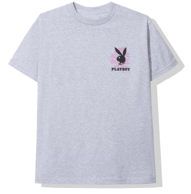 Anti Social Social Club Playboy Grey Tee