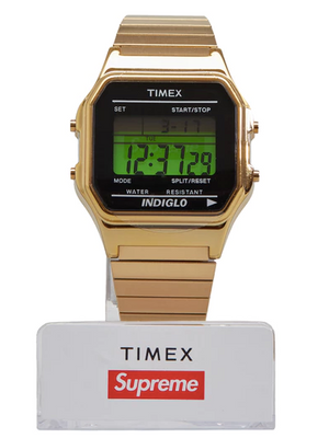 Supreme Timex Digital Watch Gold