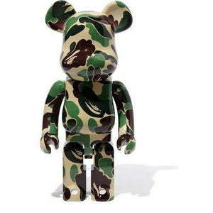 Bearbrick x A Bathing Ape ABC Camo 1000% Green