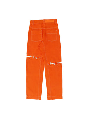 Straight-Leg Staple Jeans Orange