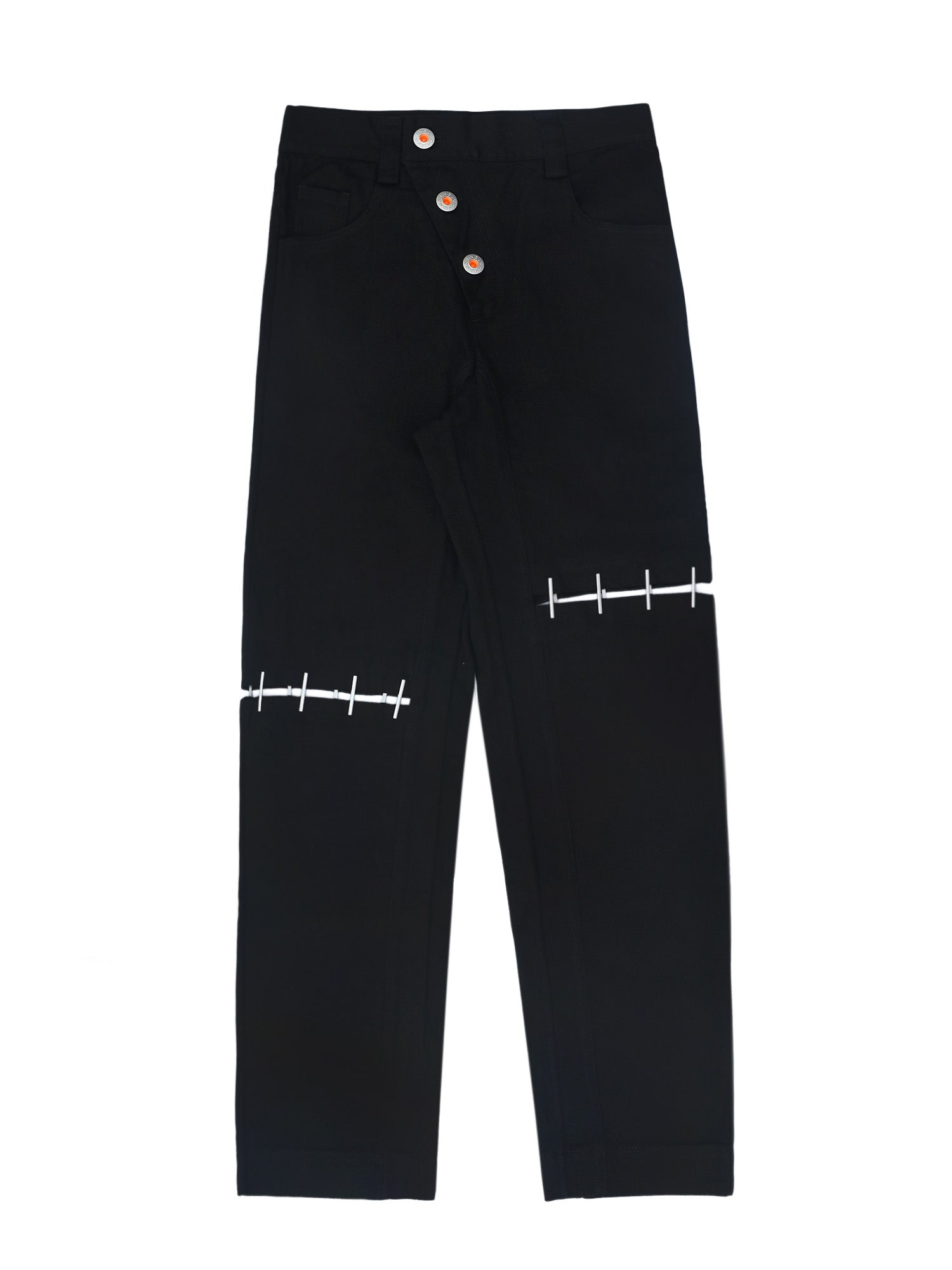 Straight-Leg Staple Jeans Black