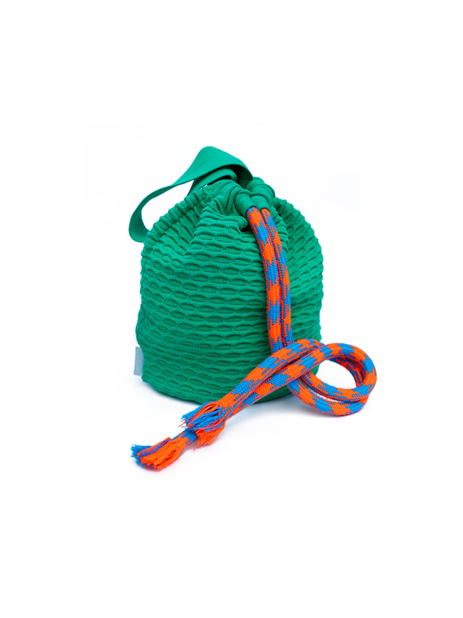 Knit Bucket Bag Green