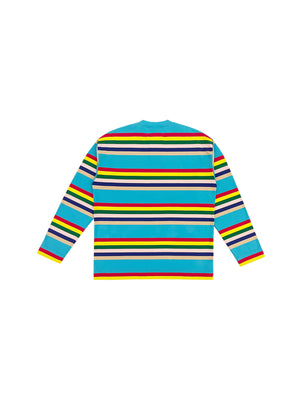 [ 517 LOVE WINS PROJECT ] BLUE COLORFUL RAINBOW LONG SLEEVES SHIRT