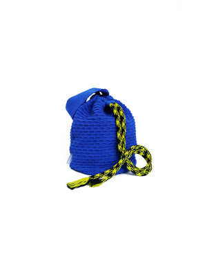 Knit Bucket Bag Blue