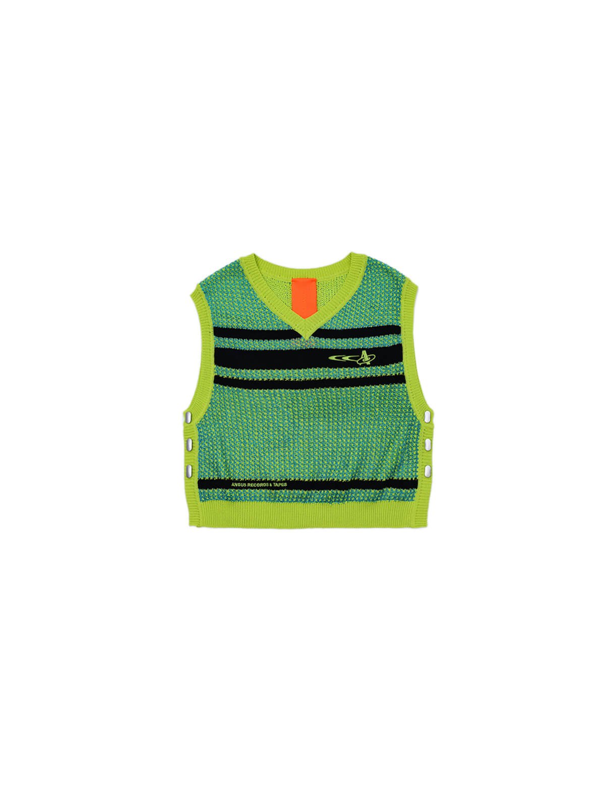 RECORDS & TAPES V-NECK KNIT VEST
