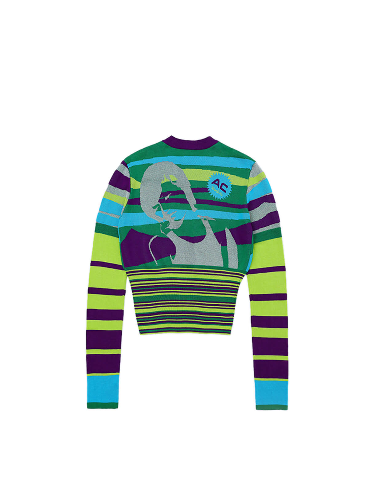 ANGUS RECORDS AND TAPES LONG SLEEVE KNIT TOP