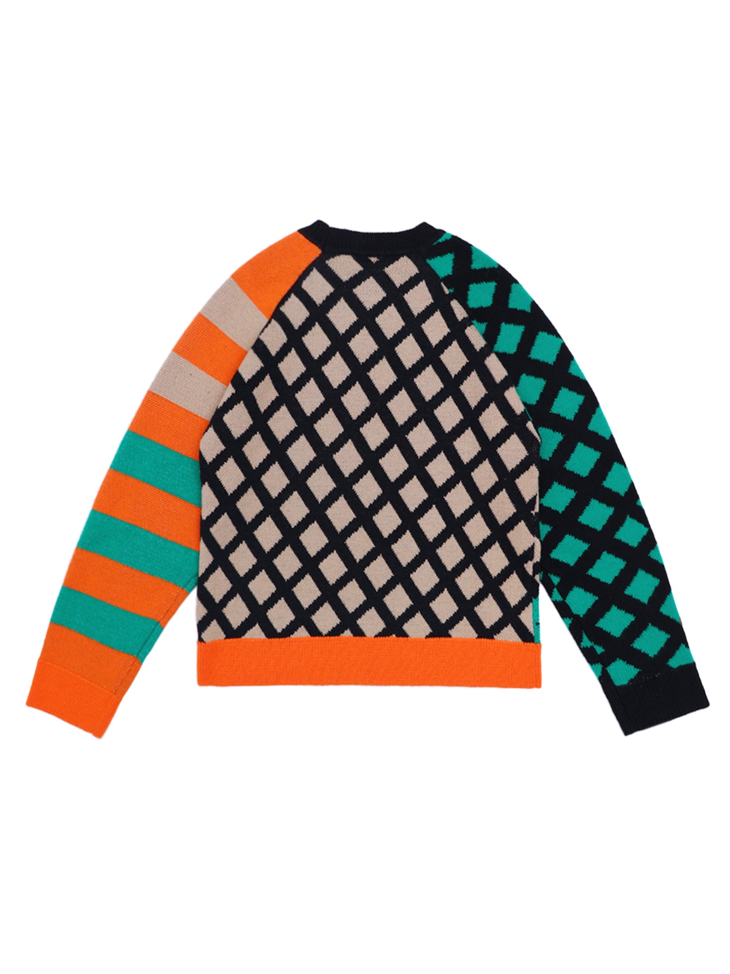 THREE IN ONE PACKAGING GRAPHIC LONG SLEEVE KNIT SWEATER