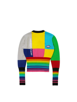 FANTASY COLORBLOCK HIGH-WAIST SWEATER