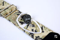 Camo Series Military Green Guitar Strap
