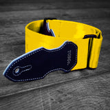 Cliffhanger Caterpillar Yellow Guitar Strap
