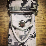 Camo Series Snow White Guitar Strap