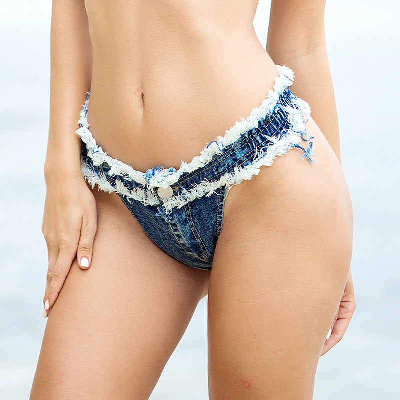 Shebadass 2019 Beach Denim Swimsuits