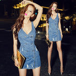 2019 denim frayed vintage dress