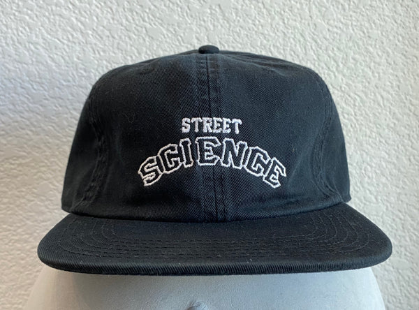 Street Science Black 6 Panel Hat