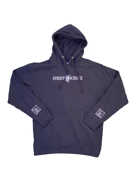 Street Science Embroidered Navy Hoodie