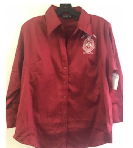 Delta Sigma Theta Button Down Shirt