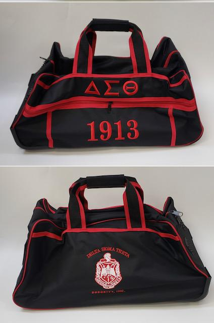 Delta Sigma Theta Black Trolley Bag