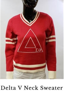 Delta Sigma Theta V-Neck Sweater