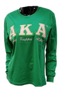AKA Long Sleeve Applique' T-Shirt