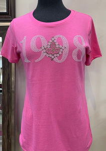 AKA 1908 Rhinestone Fitted T-shirt