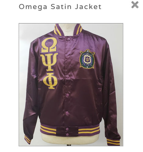 Omega Psi Phi Satin Jacket
