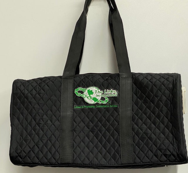Links Black Quilted Duffle Bag