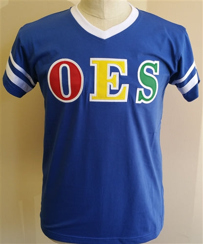 OES Tee VNeck Stripes