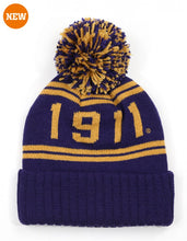 Load image into Gallery viewer, Omega Psi Phi Pom Pom Beanie