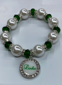 Links Stretch Pearl & Crystal Bracelet #3