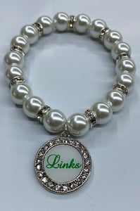 Links Pearl Stretch Bracelet