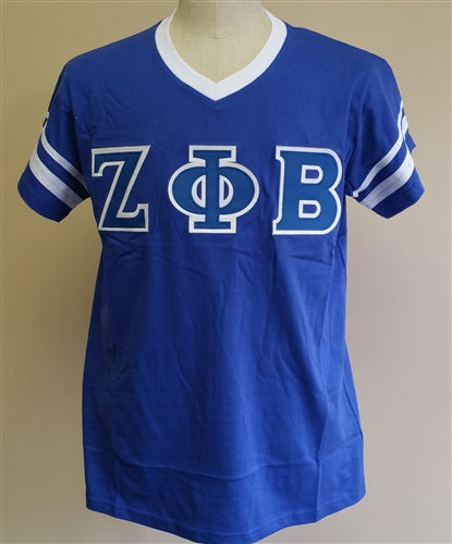 Zeta tee vneck stripes