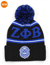 Load image into Gallery viewer, Zeta Phi Beta Beanie with Ball