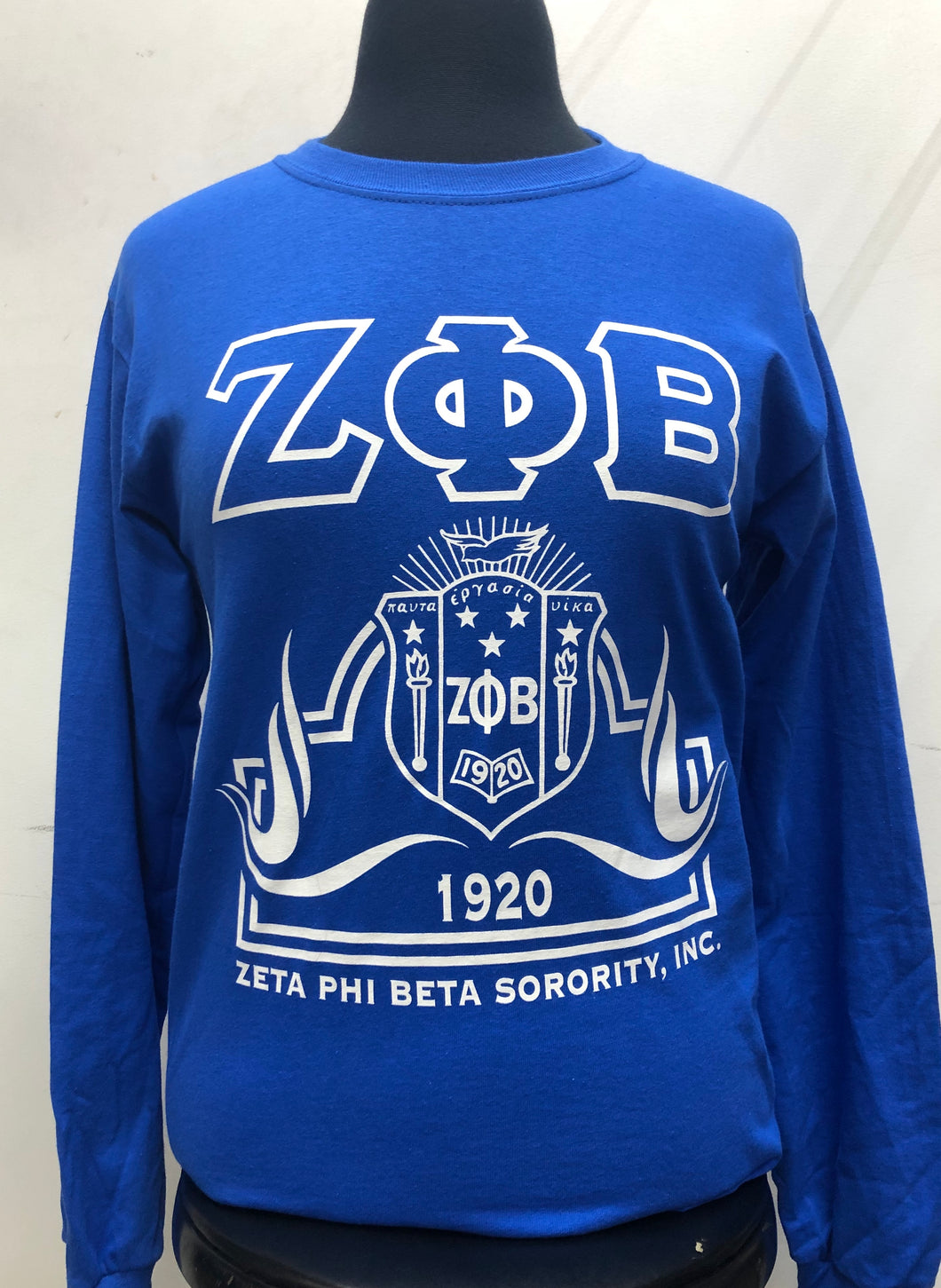 Zeta Long Sleeve Crest T-shirt