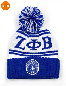 Zeta Phi Beta Beanie with Ball