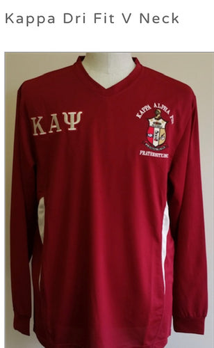 Kappa Dri Fit V Neck Long Sleeve